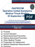 AFRICOM MedicalThreatBrief OperationUnitedAssistance 25SEP2014 Version3 Approved UNCLASSIFIED