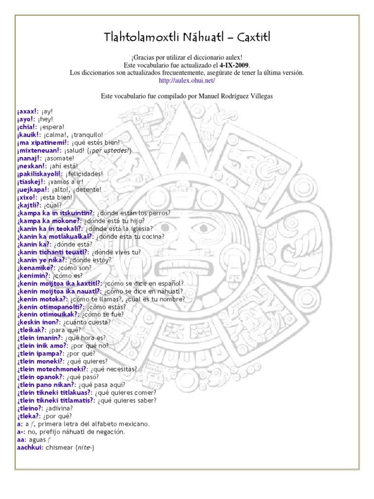 Tlahtolamoxtli Náhuatl – Caxtitl