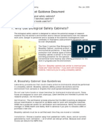 Biosafety Cabinet Guidance Document