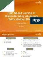 Alluminium Tailored Blank Laser Welding