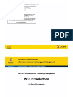 INFS3631, 01, Introduction, Rev03.Pptx