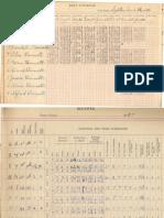 South Bend School 1926-8 Grade Book Part 2