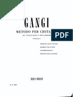 Metodo Chitarra Per Conservatori e Licei Musicali Di Mario Gangi - Parte Prima (Ed Ricordi)