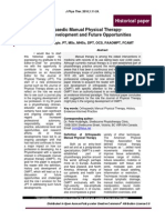 Orthopaedic Manual Physical Therapy- History, Development and Future Opportunities