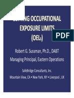Setting OELs, Dr Robert Susman, Safebridge