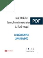 FSE Basilicata 2020