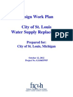 Design work plan, Water supply Replacement plan