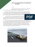 Sisteme de Siguranta Activa Pentru Autovehicule Rutiere