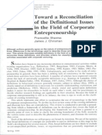 Corporate Entrepreneurship Sharma and Chrisman 1999