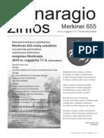 Proginis Merkinės muziejaus laikraštis; muziejaus atidarymo proga 2014 m.