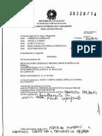 Sentenza Cassazione conferma assoluzione Raniero Busco Motivazioni Dep.24!09!2014 Delitto via Poma