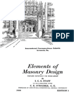 Elements of Masonry Design