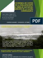 VALORACIÓN ECONÓMICA DE COSTOS AMBIENTALES EN LA ZONA ADYACENTE EMBALSE SAN RAFAEL MUNICIPIO LA CALERA.ppt