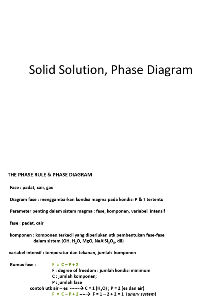 Solid solution phase matter magma ccuart Choice Image