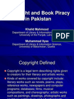 Copyright and Book Piracy in Pakistan