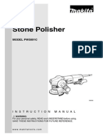 Makita PW5001C Stone Polisher Manual
