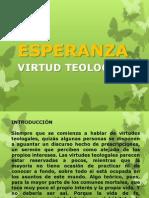 Virtud Teologal La Esperanza.