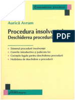 PROCEDURA INSOLVENTEI. DESCHIDEREA PROCEDURII. AURICA AVRAM.pdf