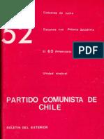 Boletín del Exterior Partido Comunista de Chile Nº52