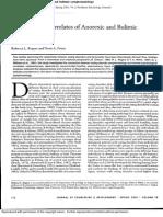Psychological Correlates of Anorexic and Bulimic Symptomatology