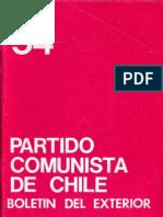 Boletín del Exterior Partido Comunista de Chile Nº54