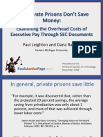 Why Private Prisons Do Not Save Money