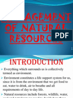Management of Natural Resources