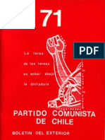 Boletín del Exterior Partido Comunista de Chile Nº71. Edición extraordinaria 1985