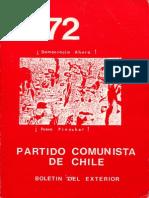 Boletín del Exterior Partido Comunista de Chile Nº72