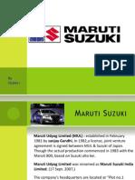 Maruti Suzuki Ppt