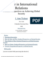 Gender in International Relations (J. Ann Tickner)