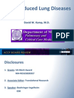 Drug Induced Lung Disease/Pulmonary Board review