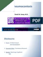 Pneumoconioses/Pulmonary board review