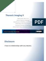 Thoracic Imaging II/Pulmonary board review