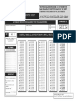Test-Drill Examination Answer Sheet