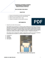 Práctica 6 Calibracion de Sifones