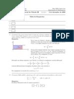 Corrección Segundo Parcial, Semestre II03, Cálculo III