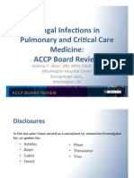 Fungal Diseases/Pulmonary Board review