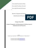 Estudio comparativo de herramientas de software para administracion de proyectos
