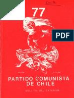 Boletín del Exterior Partido Comunista de Chile Nº77