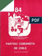 Boletín del Exterior Partido Comunista de Chile Nº84