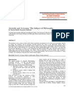 Aristotle and Avicenna The Subject of Philosophy.pdf