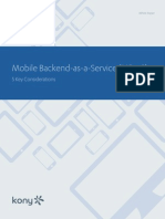 Kony WP Mobile Backend as a Service