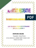 0 Activitati Recreative La Clasa Pregatitoare Si Clasa i