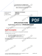 Application Form (Example) for VP/2014/001