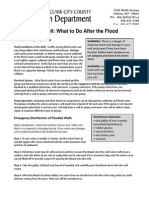 Well What to Do After a Flood