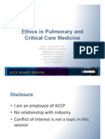 Ethics/Pulmonary board review