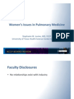 Women's Issues in Pulmonary Medicine/Pulmonary board review