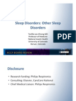 Sleep Disorders II/Pulmonary Board review