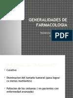 Generalidades de Farmacologia
